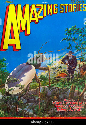 AMAZING STORIES American science fiction magazine - Stock Photo