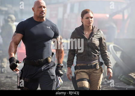 FAST & FURIOUS 6 - 2013 Universal Pictures film with Gina Carano and Dwayne Johnson - Stock Photo
