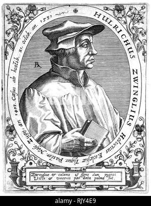 ULRICH ZWINGLI (1484-1531) Swiss Reformist theologian - Stock Photo