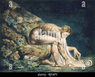 WILLIAM BLAKE (1757-1827) English artist.  'Newton' painted in 1795. - Stock Photo