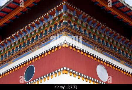 La Boulaye, TEMPEL DER 1000 BUDDHAS, gegründet 1987 von tibetischen Mönchen. Lamaistisches Zentrum verbunden mit einer Hochschule für Tibetologie, Sch - Stock Photo