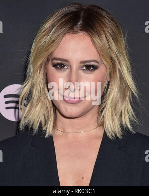 Los Angeles, United States. 07th Feb, 2019. LOS ANGELES, CA, USA - FEBRUARY 07: Actress Ashley Tisdale arrives at the Spotify Best New Artist Party 2019 held at the Hammer Museum on February 7, 2019 in Los Angeles, California, United States. ( Credit: Image Press Agency/Alamy Live News - Stock Photo