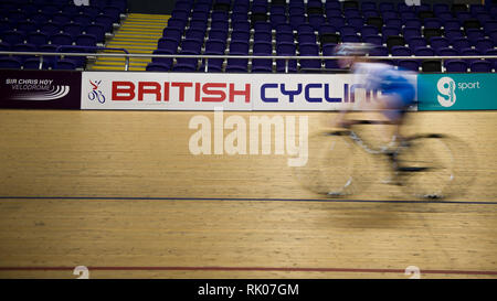 Glasgow, UK. 8 Feb 2019. A new multi-disciplinary cycling event will bring together 13 existing UCI cycling World Championships into one event to be held every four years, commencing in Glasgow and Scotland in 2023. Credit: Colin Fisher/Alamy Live News - Stock Photo