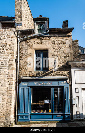 Dinan, France - July 23, 2018: Picturesque vintage storefront  in historic centre of the city. - Stock Photo