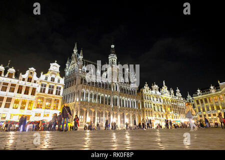 13.11.2018, Brussels, Belgium - the Maison du Roi with the city museum and guildhouses at the Grand Place in Brussels - Stock Photo