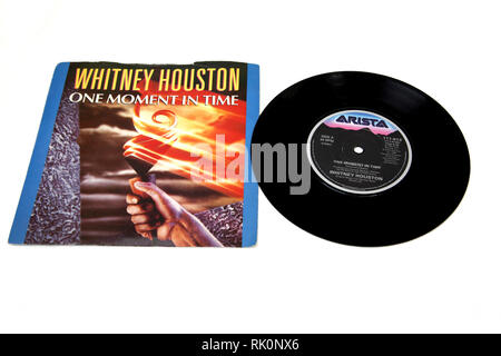 Whitney Houston One Moment in Time Single Record - Stock Photo