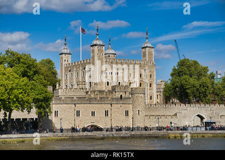 LONDON, UK - SEPTEMBER 9, 2018: Traitors Gate - the historic gate through which prisoners were brought into the castle - Stock Photo
