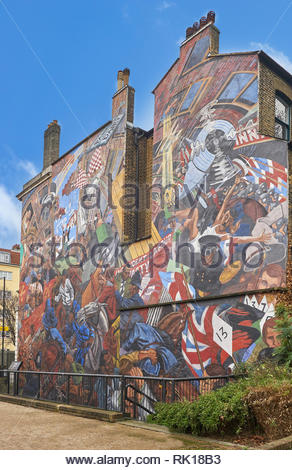 cable stree mural London - Stock Photo