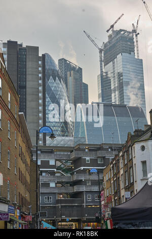 east end architecture london - Stock Photo
