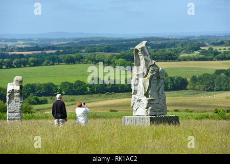 Carnoet (Brittany, north-western France): the Valley of Saints. This project initiated by Philippe Abjean who wishes to create BrittanyÕs Easter Islan - Stock Photo