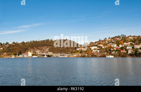 On the river at Launceston, Tasmania, Australia - Stock Photo
