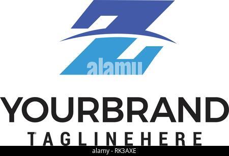 Z Letter logo design concept template - Stock Photo