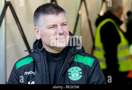 Easter Road, Edinburgh, UK. 9th Feb, 2019. Scottish Cup football fifth round, Hibernian versus Raith Rovers; Eddie May caretaker Hibernian Manager Credit: Action Plus Sports/Alamy Live News - Stock Photo