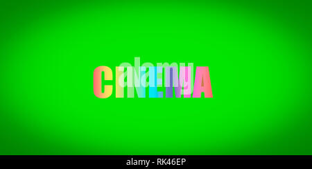 Green Background Green Green Screen Screen Blank Screen Movie Theater Stock Photo Alamy