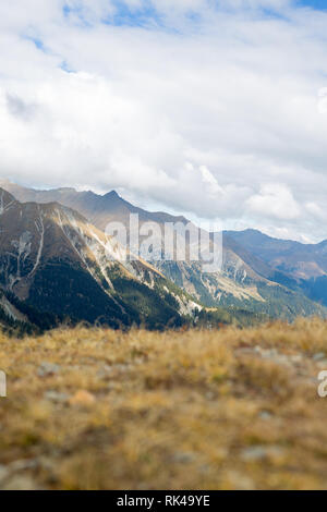 A view from the Mountains in Meran - Stock Photo