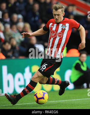 Southampton's James Ward-Prowse during the Premier League match at St Mary's Stadium, Southampton. - Stock Photo