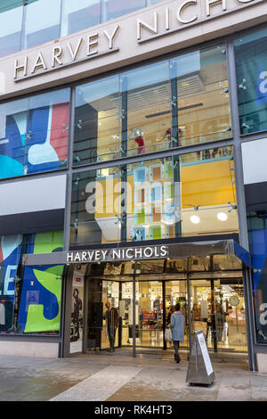 Harvey Nichols department store in new Cathedral street,Manchester,England,UK - Stock Photo