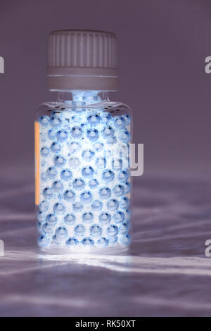 Molecule of DNA forming inside the test tube in the blood test equipment.3d rendering,conceptual image. - Stock Photo