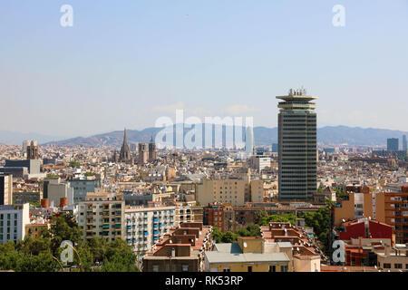 Cityscape of Barcelona, Catalonia, Spain - Stock Photo