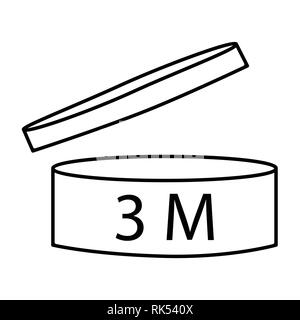 Vector illustration cosmetics symbol design. Period of validity after opening icon. Expiration date after product opening symbols. 3M - Stock Photo