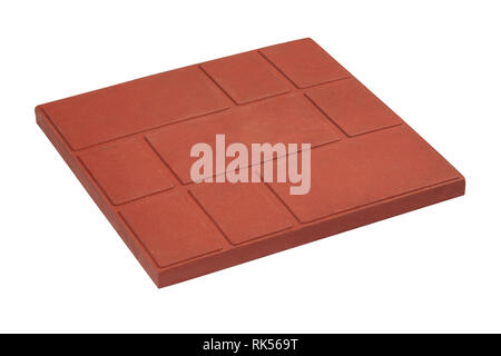 squared paving tile isolated, top view.  Sidewalk pavement pattern. Concrete Pavers | Sandstone Pavers | Granite Tiles - Stock Photo