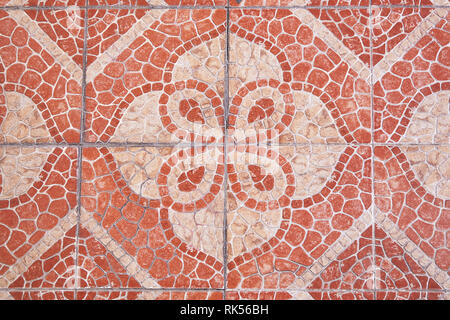 Red squared paving tiles isolated, top view.  Sidewalk pavement pattern. Concrete Pavers | Sandstone Pavers | Granite Tiles - Stock Photo