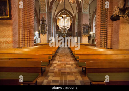 The organ of the Schleswig Cathedral, Schleswig, Schleswig-Holstein, Germany, Europe - Stock Photo