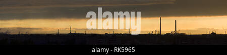 Metal structures and pipes of the plant, industrial landscape, single-industry industry. - Stock Photo