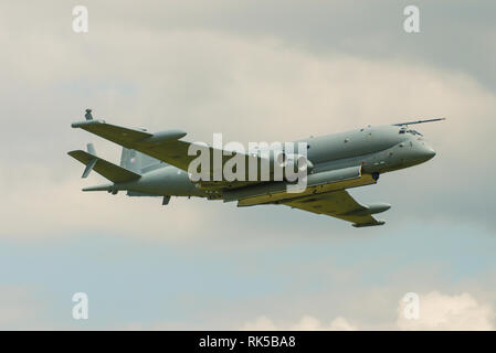 BAe Systems Nimrod MRA4 maritime patrol and attack aircraft intended to replace the Hawker Siddeley Nimrod MR2. Anti submarine warfare. ZJ518 - Stock Photo