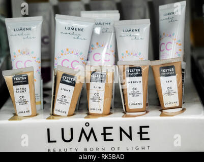 2097759a086 ... Lumene CC Color Correcting Cream seen in the store.. - Stock Photo