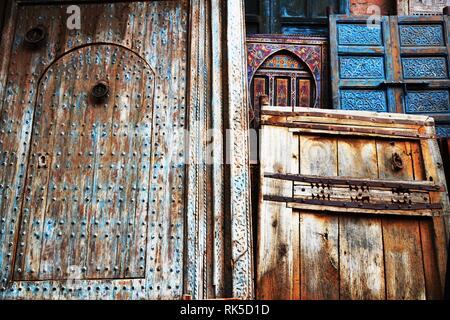 The Splendor Of Old Doors  Beautiful Moroccan old door. Marrakesh, Morocco.