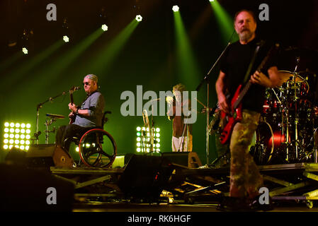RJ - Rio de Janeiro - 09/02/2019 - Paralamas do Sucesso - The band Paralamas do Sucesso during show The biggest meeting of the Brazilian Rock in the Hall of Advantages in Barra da Tijuca, this Saturday, February 9. Photo: Thiago Ribeiro / AGIF - Stock Photo