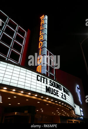 California, USA. 9th Feb 2019.  A general view of atmosphere of Muse Marquee for their concert on February 9, 2019 at Hollywood Palladium in Hollywood, California. Photo by Barry King/Alamy Live News - Stock Photo