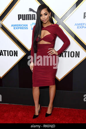 Los Angeles, California, USA. 9th Feb, 2019. LAUREN LONDON arrives for the 2019 Roc Nation THE BRUNCH held at a Private Residence. Credit: Birdie Thompson/AdMedia/ZUMA Wire/Alamy Live News - Stock Photo