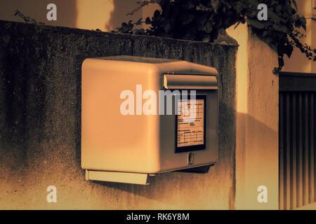 German post box - Stock Photo