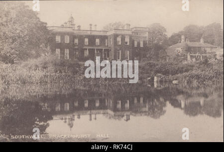 Edwardian View of Brackenhurst Hall, Southwell, Nottinghamshire, England, UK - Stock Photo
