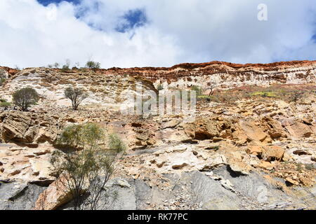 cliff face at Coalseam conservation park Western Australia - Stock Photo