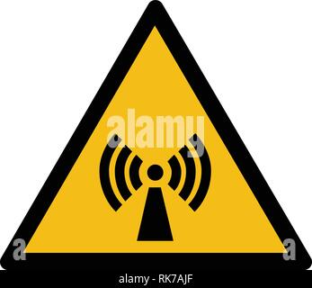 Warning sign vector - non ionizing radiation - Stock Photo