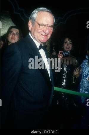LAS VEGAS, NV - JANUARY 1: CEO of Berkshire Hathaway Warren Buffett attends 'An Evening with Barbra Streisand' concert on January 1, 1994 at MGM Grand Garden in Las Vegas, Nevada. Photo by Barry King/Alamy Stock Photo - Stock Photo