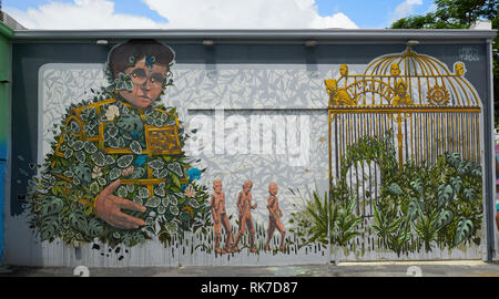Murial in Wynwood Miami - Stock Photo