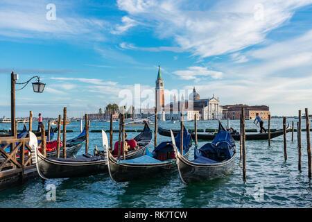 Venice's Landscape with San Giorgio Maggiore Island in the back - Stock Photo