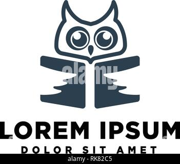 owl logo template vector illustration icon element isolated - Stock Photo
