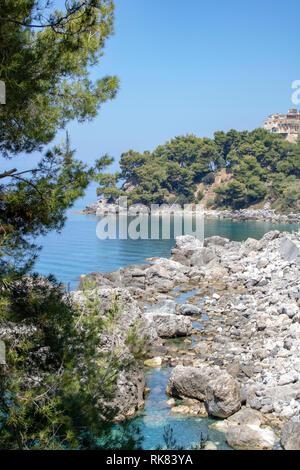 Little bay of Maratea coast, Basilicata, Italy - Stock Photo