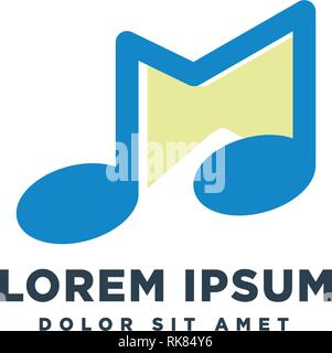 letter M Music Logo template vector illustration icon element - Stock Photo