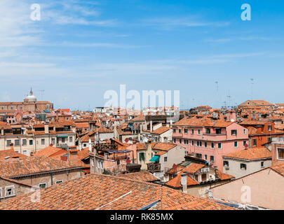 View Rooftops Venice from Palazzo Ducale - Stock Photo