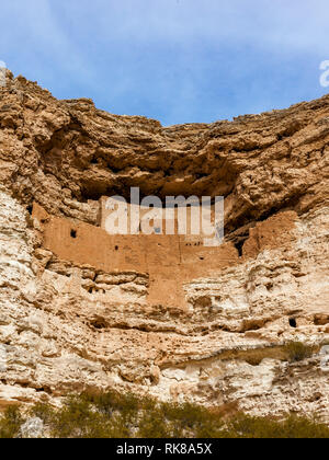 Montezuma castle, national monument in Arizona, United States. - Stock Photo