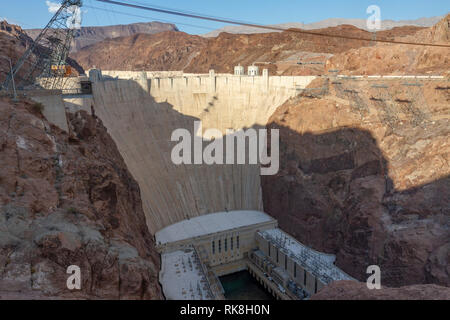 The Hoover Dam, Clark County, Nevada, United States. - Stock Photo