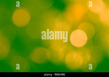Green and yellow abstract background with bokeh. - Stock Photo