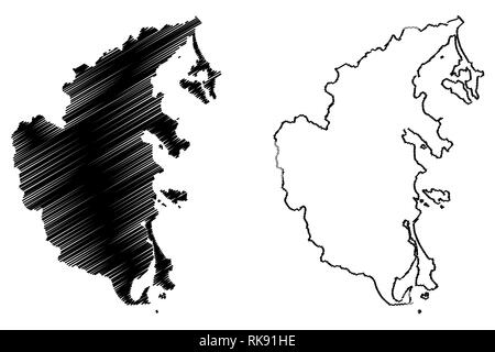Khanh Hoa Province (Socialist Republic of Vietnam, Subdivisions of Vietnam) map vector illustration, scribble sketch Tinh Khanh Hoa map - Stock Photo