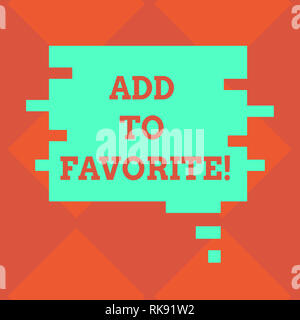 Handwriting text writing Add To Favorite. Concept meaning Like a page social network community stay always connected Blank Color Speech Bubble in Puzz - Stock Photo